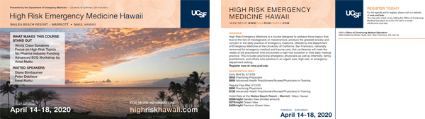 High Risk Emergency Med 2020 Postcard